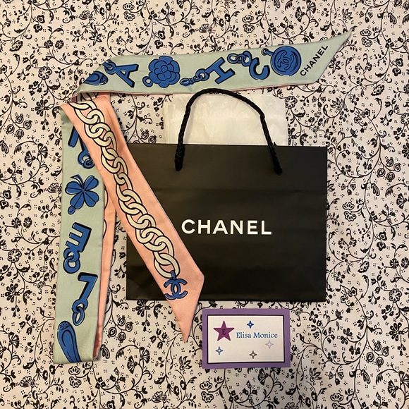 Authentic Chanel Bandeau Scarf Twilly